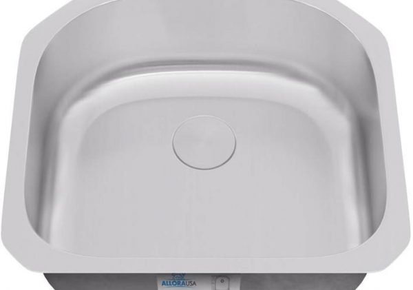 KSN-2321- ALLORA SERIES – D-Shaped Single Bowl Undermount Sink