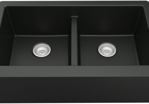 QA-750-BL Quartz Farmhouse Sink - Black