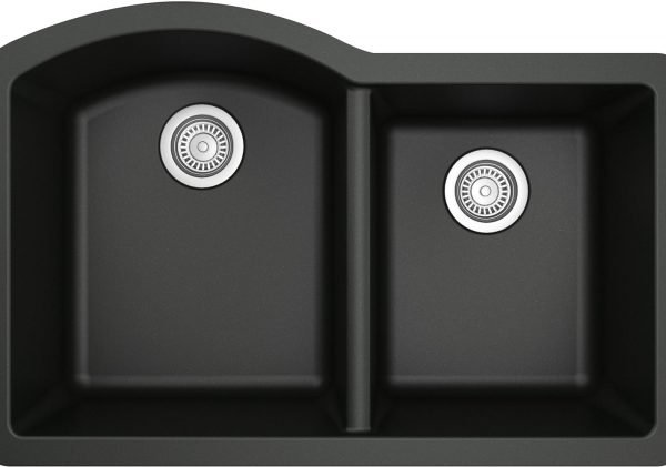 QU-610-BL Quartz Kitchen Sink - Black