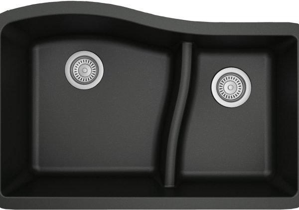QU-630-BL Quartz Kitchen Sink - Black