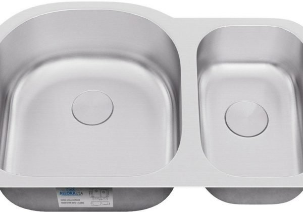 KSN-2131-ALLORA SERIES – Offset Double Bowl Undermount Sink